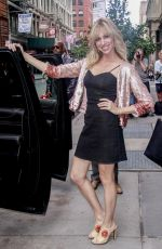 Debbie Gibson Poses up after an appearance at Build Series in New York City