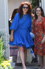 Debra Messing Attending the Instyle Day of Indulgence Party in Los Angeles
