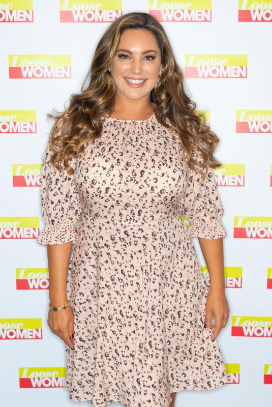 Denise Van Outen & Kelly Brook At Loose Women TV Show