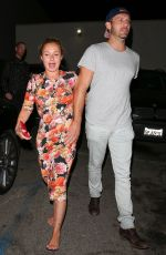 Hayden Panettiere Leaves restaurant with male companion in Hollywood