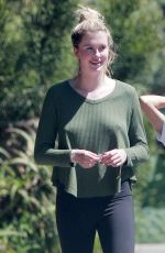 Ireland Baldwin Goes for a walk with her friends in sunny Malibu