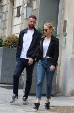 Jennifer Lawrence and Cooke Maroney stroll in Paris