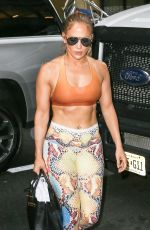 Jennifer Lopez Heading to the gym in New York City