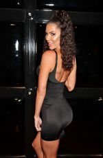 Jessica Cribbon Poses for photos before partying the night away at Drai