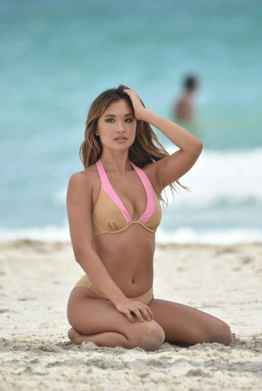 Jocelyn Chew During a photo shoot in Miami Beach