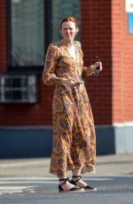 Karen Elson Stepping Out in New York City