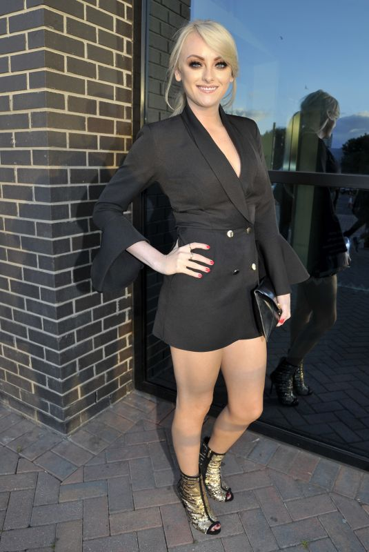 Katie Mcglynn and Tisha Merry arrive at Charity event at Hotel Football in Manchester
