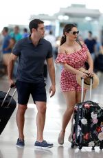 Kelly Brook Arriving At Barcelona Airport in Spain
