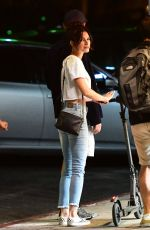 Kelly Oxford At 41 and music producer Flume 26, were seen at BIRDS restaurant in Hollywood