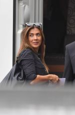 Kym Marsh Filming Coronation Street Scenes on Set in Manchester