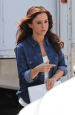 Lacey Chabert and Heather Doerksen At the set of