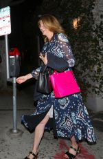 Laura Dern Spotted leaving Lucques restaurant in West Hollywood