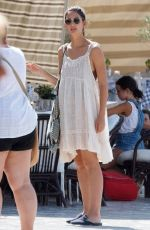 Lily Aldridge Strolling around as she prepared for a photoshoot on the island of Hydra in Greece