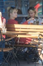 Lottie Moss and Jessica Woodley Enjoying a late lunch in Notting Hill before heading to the Electric Cinema