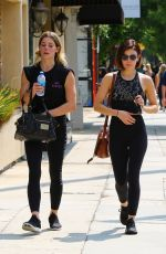 Lucy Hale and Ashley Green Leave the gym together in Los Angeles