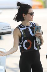 Lucy Hale Leaves pilates class looking trendy in Los Angeles