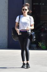 Lucy Hale Leaving a gym in Studio City