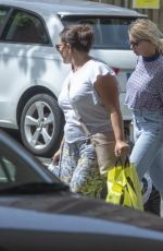Megan Barton Hanson Arriving home with her mother after a shopping trip in Southend