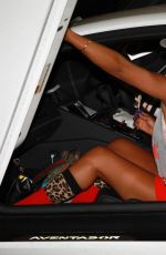 Melanie Brown Leaving Dr Nyla clinic in Wilmslow, Cheshire
