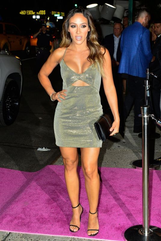 Melissa Gorga In a silver mini as she arrived at Jennifer Lopez