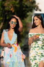 Natalia Barulich and Esther Anaya Leaving Urth Caffe in Hollywood