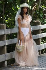 Rocky Barnes On a beach photoshoot in Miami ahead of her wedding