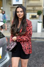 Rosie Williams Leaves Rosso Restaurant in Manchester