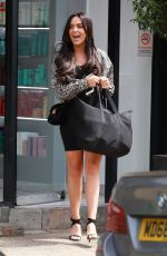 Rosie Williams Leaves The Style Lounge hair Salon in Alderley Edge Cheshire