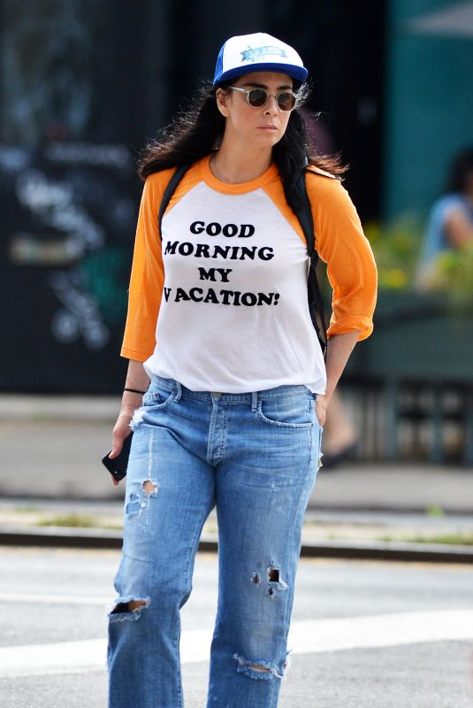 Sarah Silverman Spotted Sporting a Good Morning my Vacation jersey in Soho