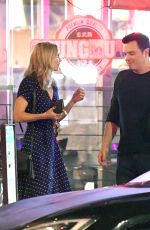 Seth MacFarlane cozies up to Laura Vandervoort after an intimate candlelit dinne at LA hotspot Angelini Osteria