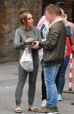 Stephanie Davis On Hollyoaks Set At Lime Pictures Studios in Liverpool