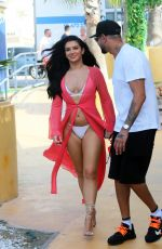 Alexandra Cane Photographed while arriving at Ocean Beach Club in in Ibiza