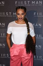 Alicia Aylies At First Man premiere in Paris