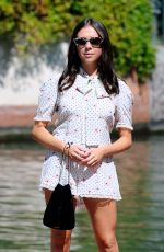 Bel Powley Arriving at the 75th Venice Film Festival in Venice, Italy