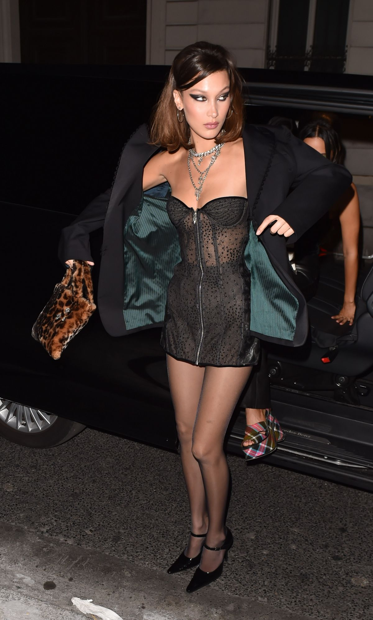 Bella Hadid Arriving At The Chrome Hearts Event In Paris Celebzz
