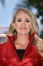 Carrie Underwood At Hollywood Walk of Fame star ceremony honoring Carrie Underwood in Hollywood