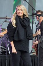 Carrie Underwood Performing onstage at Federation Square for the Sunrise AFL Grand Final show in Melbourne