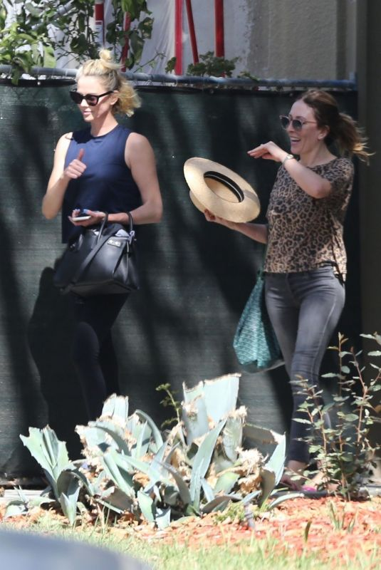 Charlize Theron In active wear in Los Angeles