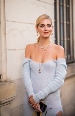 Chiara Ferragni At Jacquemus show as part of the Paris Fashion Week