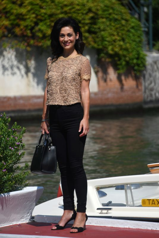 Elena Antonio Arriving at the 75th Venice Film Festival in Venice, Italy