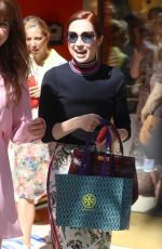 Ellie Kemper Attends the Tory Burch party in Beverly Hills