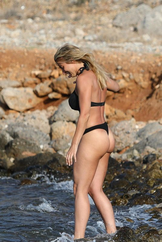 Gemma Atkinson In a Thong Bikini Whilst on Holiday in Crete, Greece