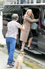 Geneva Carr Chats with fan while going into CBS Bull cast van in NYC