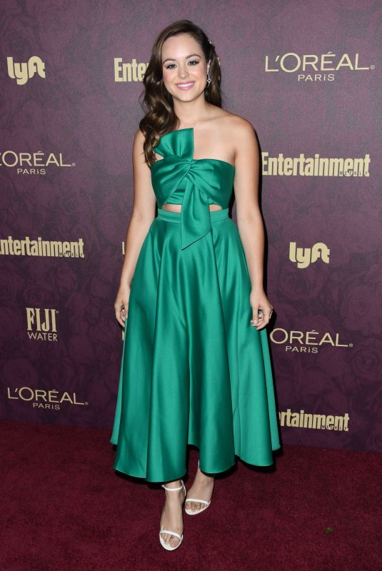 Hayley Orrantia At 2018 Pre-Emmy Party hosted by Entertainment Weekly and L