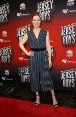 Jemma Rix At the Capitol Theatre for the opening night of the multi award winning musical Jersey Boys, Sydney, Australia