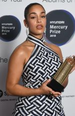 Jorja Smith At Mercury Prize Albums of the Year, London