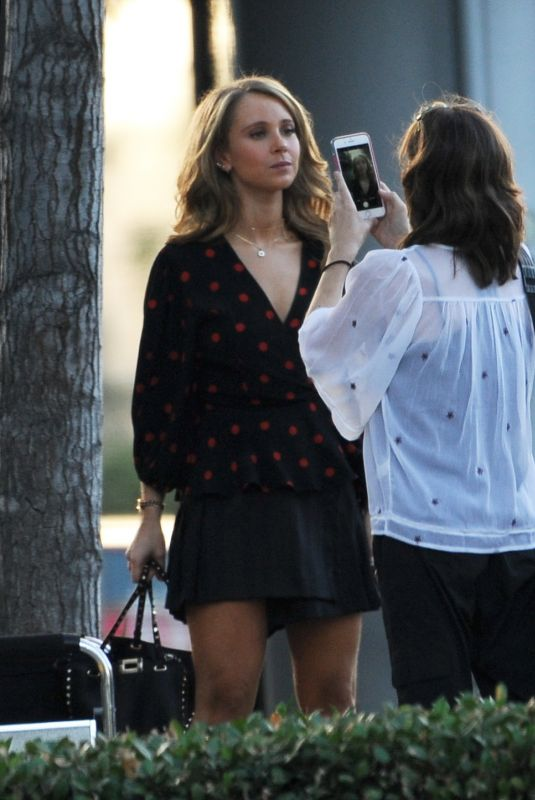 Juno Temple Filming the