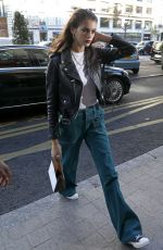 Kaia Gerber Arriving at the Royal Monceau Hotel after the Chloe show