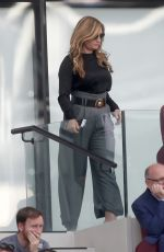 Karren Brady & daughter Sophia Peschisolido At the West Ham United v Wolves match at the London Stadium, in London