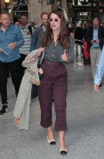Keira Knightley Arriving in Paris by the Eurostar from London with James Righton for the PFW